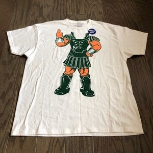 Champs Michigan State Spartans Mascot SS T-shirt